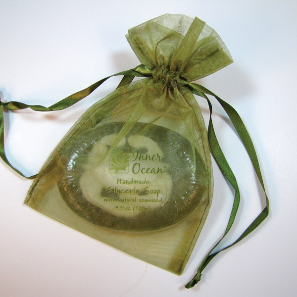 oval crab soap seaweed