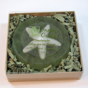 starfish seaweed soap in box by Inner Ocean